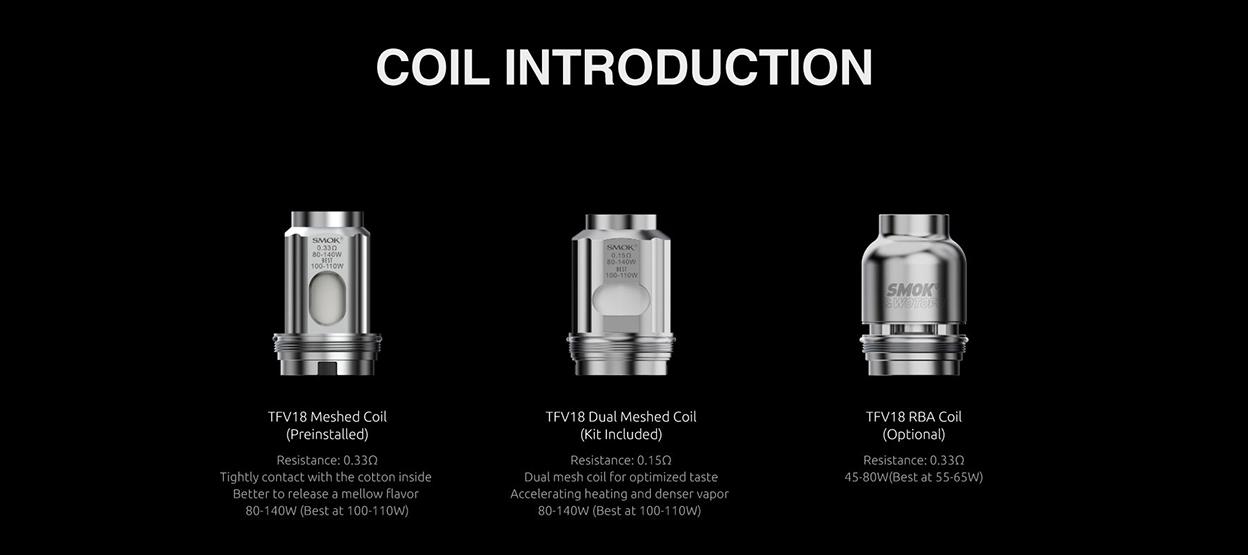 Smok TFV18 RBA Coil