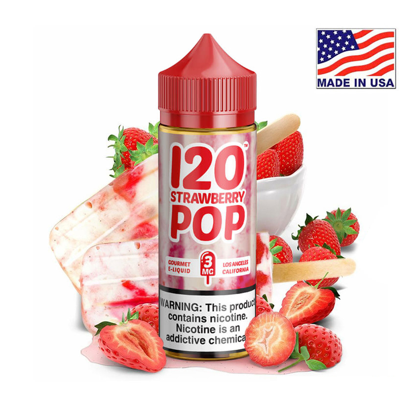 120ml Mad Hatter 120 Strawberry Pop E-liquid