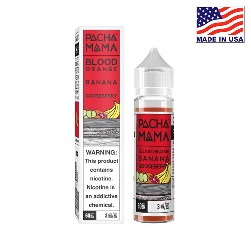 60ml Charlies Chalk Dust Pacha Mama Blood Orange Banana Gooseberry E-liquid