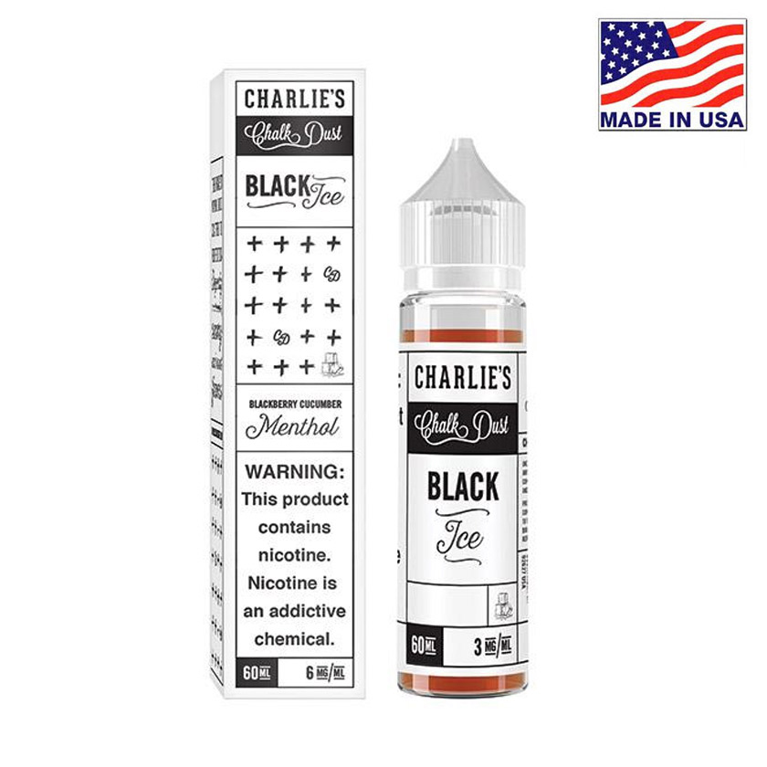 60ml Charlies Chalk Dust Black Ice Menthol E-liquid