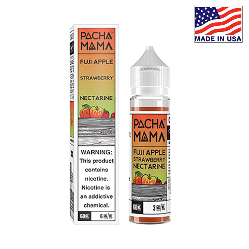 60ml Charlies Chalk Dust Pacha Mama Fuji Apple Strawberry Nectarine E-liquid