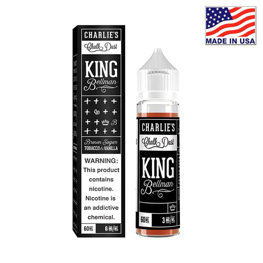 60ml Charlies Chalk Dust King Bellman E-liquid