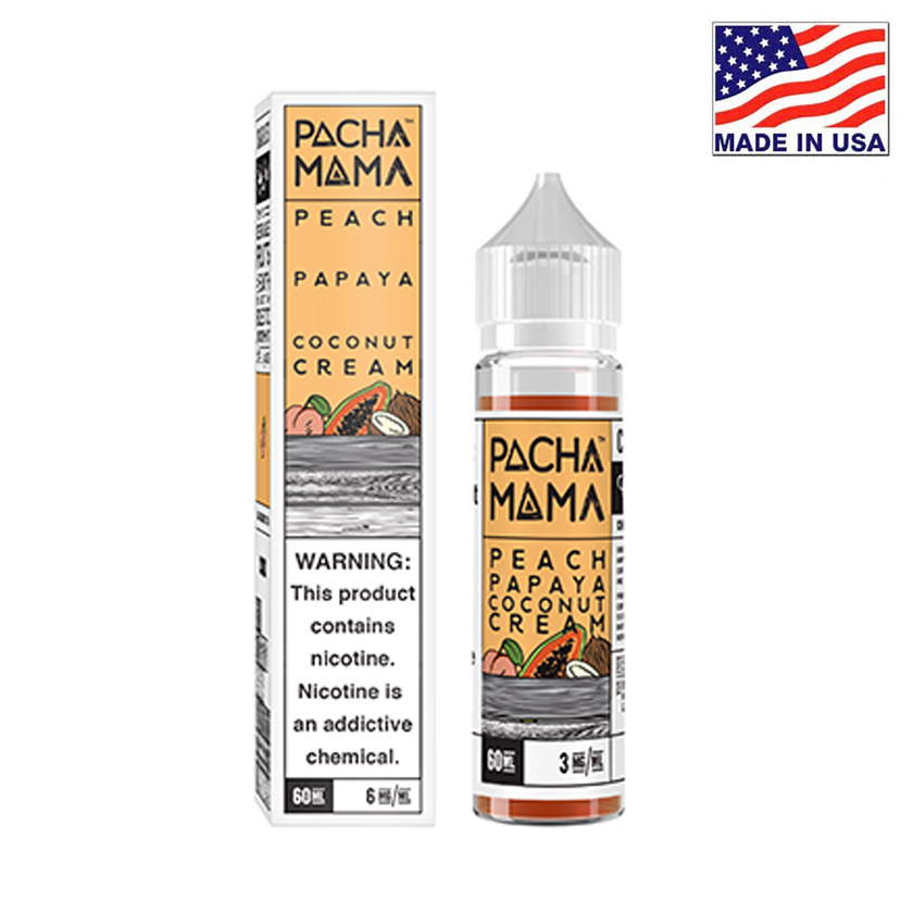 60ml Charlies Chalk Dust Pacha Mama Peach Papaya Coconut Cream E-liquid