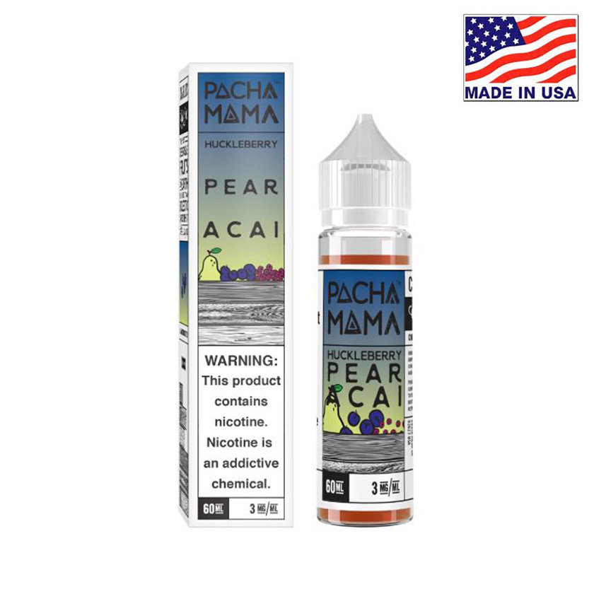 60ml Charlies Chalk Dust Pacha Mama Huckleberry Pear Acai E-liquid
