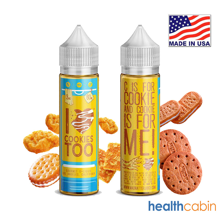 60ml Mad Hatter I Love Cookies Too E-liquid