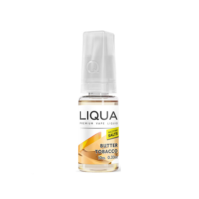 10ml NEW LIQUA Butter Tobacco Salts E-Liquid (40PG/60VG)