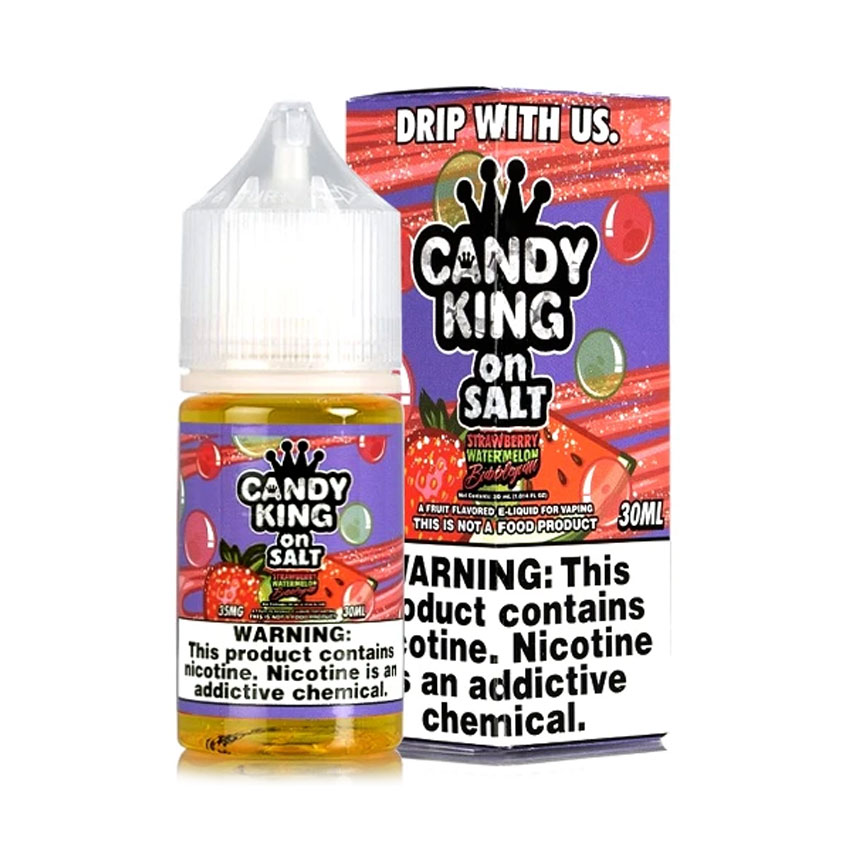 30ml Candy King Strawberry Watermelon Bubblegum Salt E-liquid