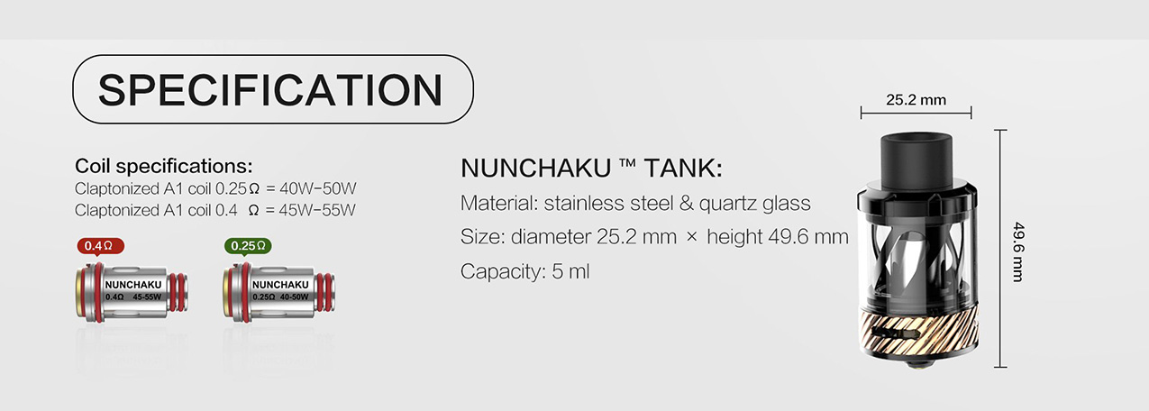 Uwell Nunchaku 80W Mod Kit