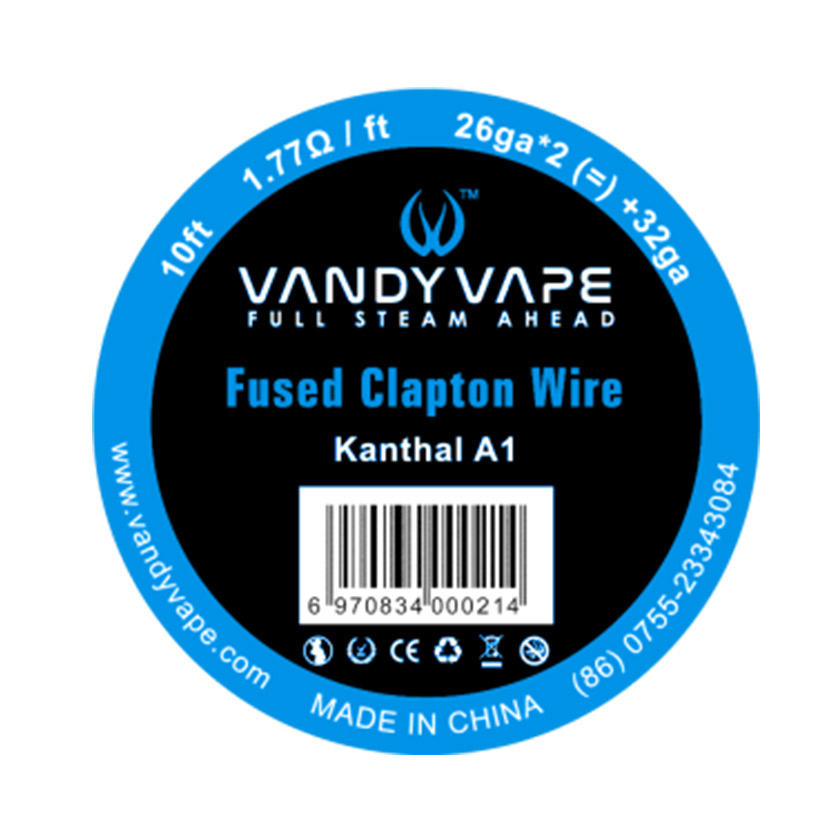 10ft Vandyvape Kanthal A1 Fused Clapton Wire 26ga*2+32ga