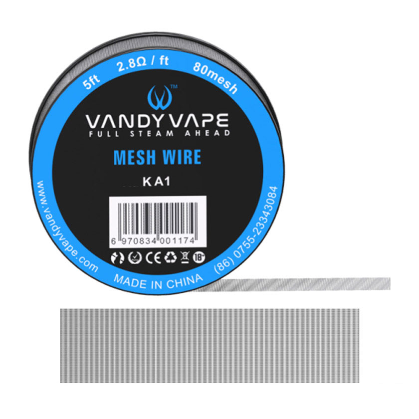5ft Vandy vape Kanthal Mesh Wire 80mesh