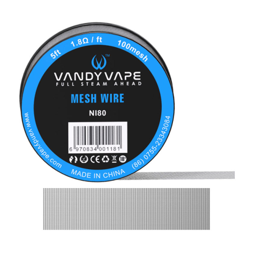 5ft Vandy vape Ni80 Mesh Wire 100mesh