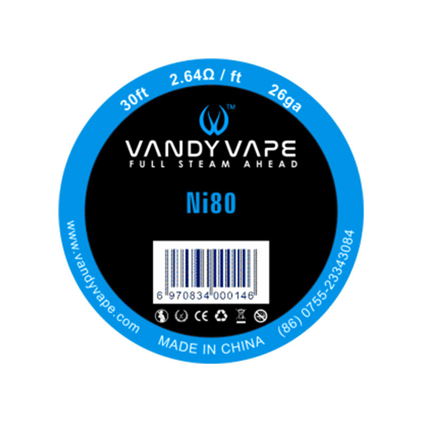 30ft Vandy vape Pure Nickel Ni80 Wire 26ga