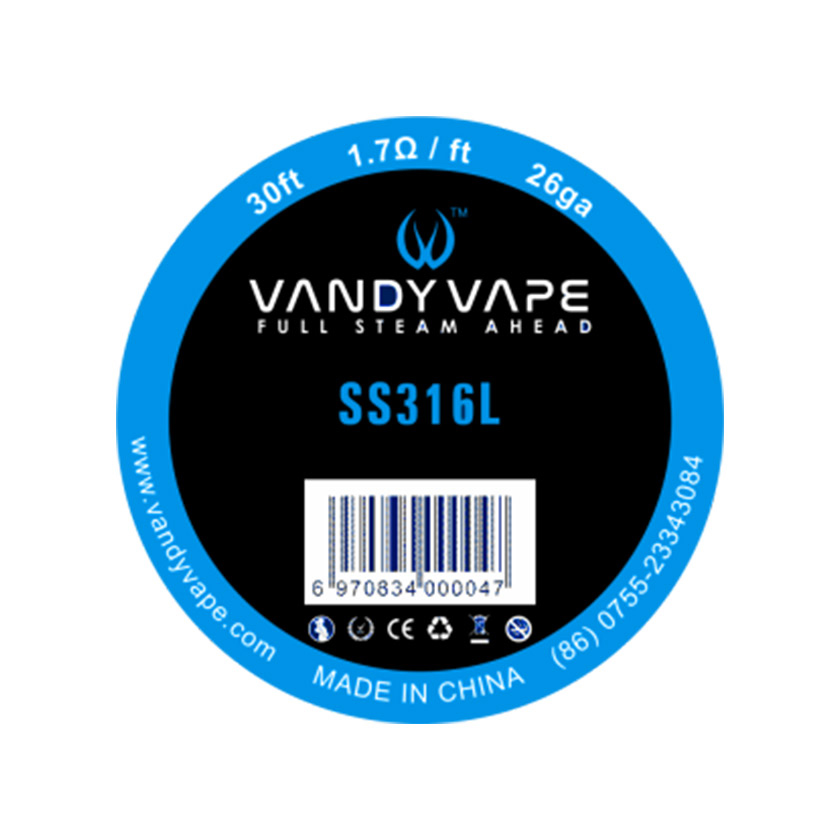 30ft Vandy vape SS316L Wire 26ga