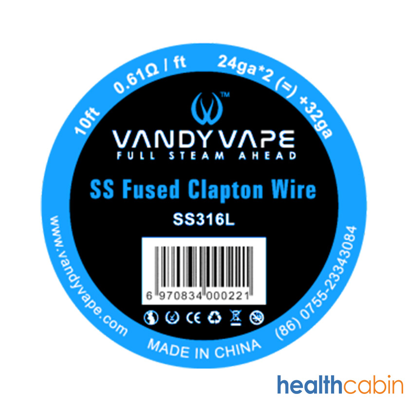 10ft Vandy vape SS316 Fused Clapton Wire 24ga*2+32ga
