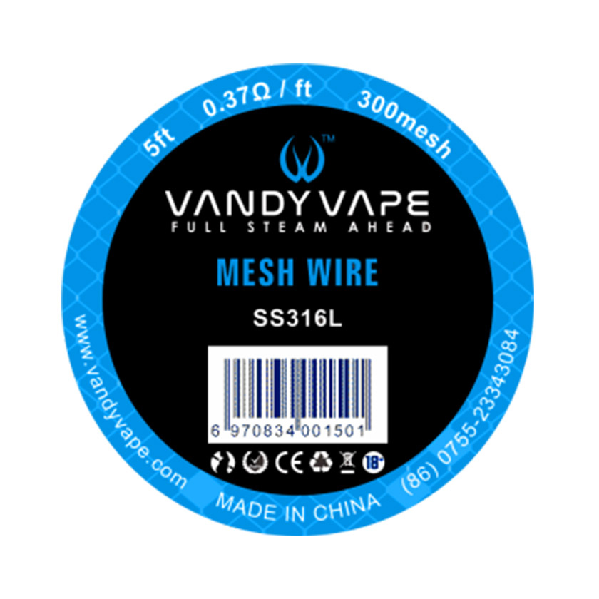 5ft Vandy vape SS316L Mesh Wire 300mesh