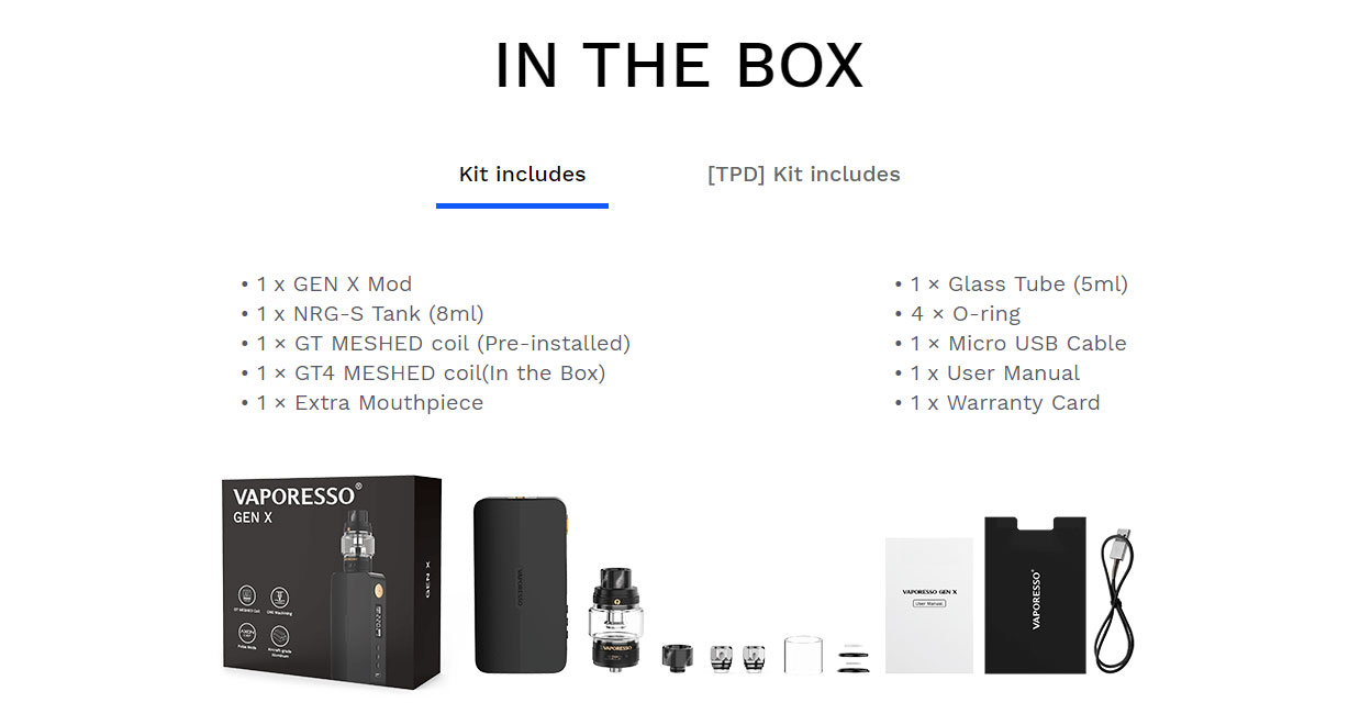 Vaporesso Gen X Kit