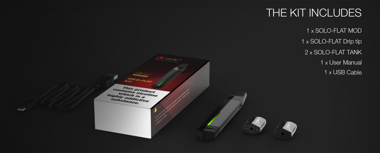 Vaptio Solo-Flat Kit 650mAh