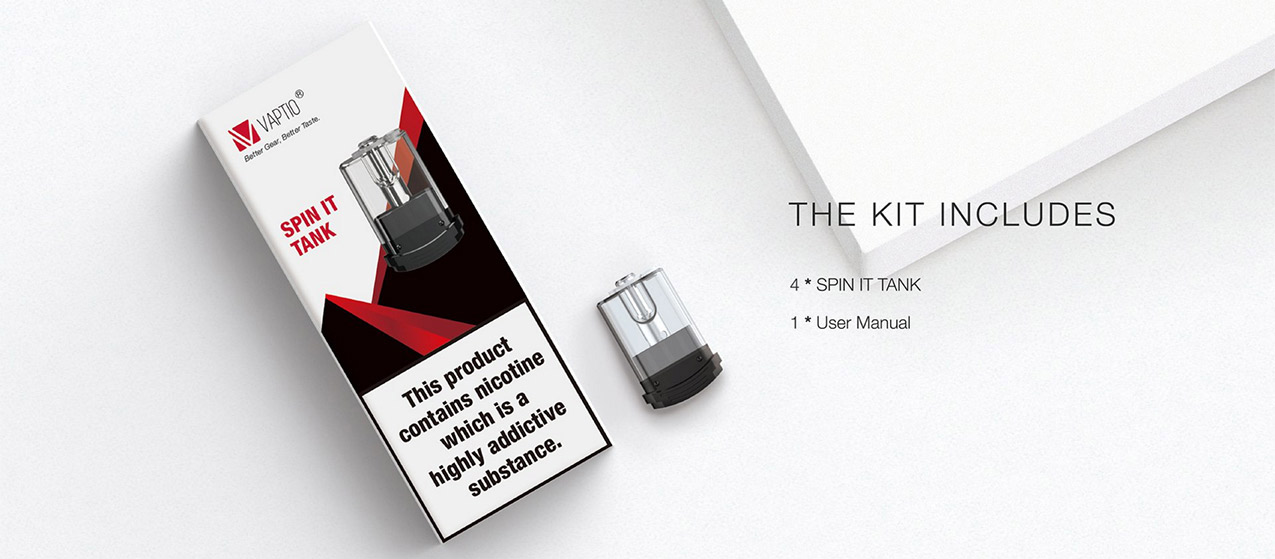 Cartridges for Vaptio Spin-It