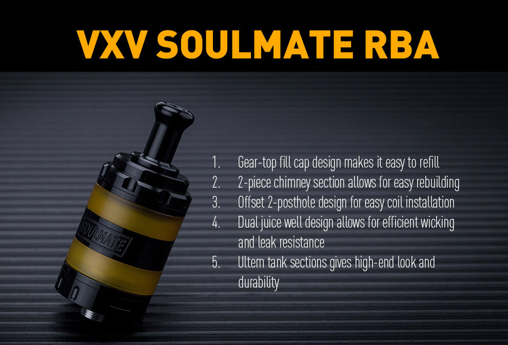 VXV Soulmate RBA Atomizer