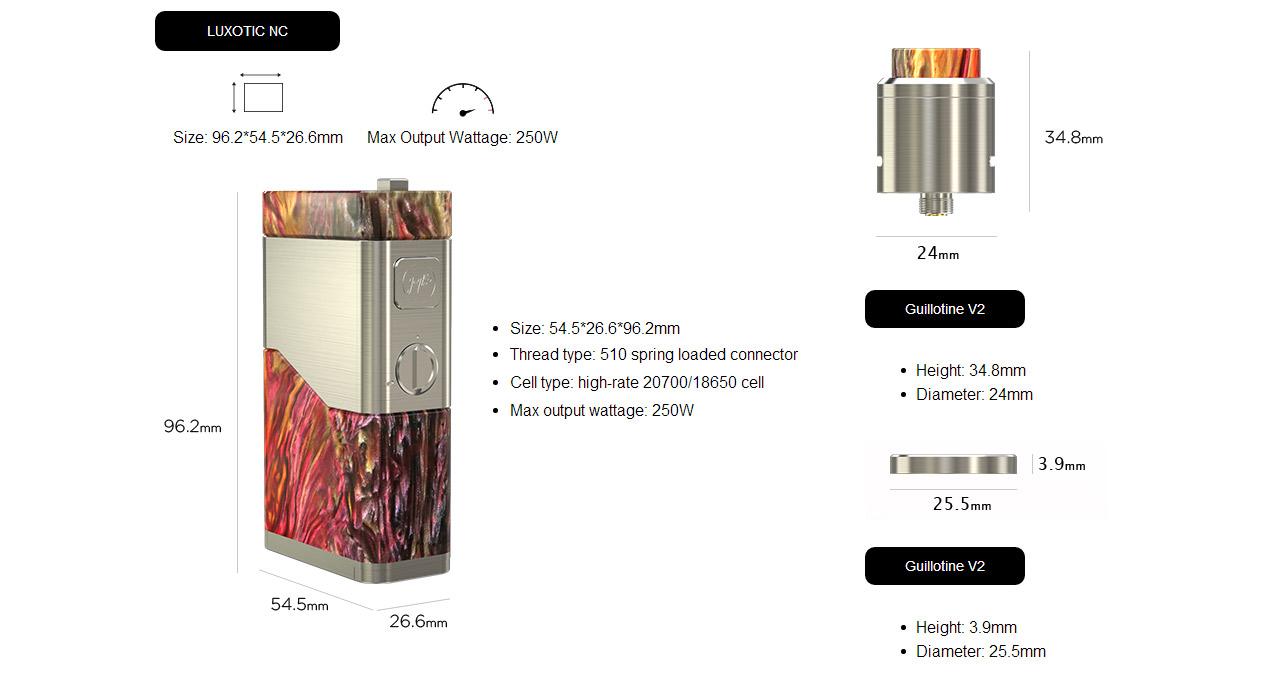 Wismec Luxotic NC 250W Mod Kit