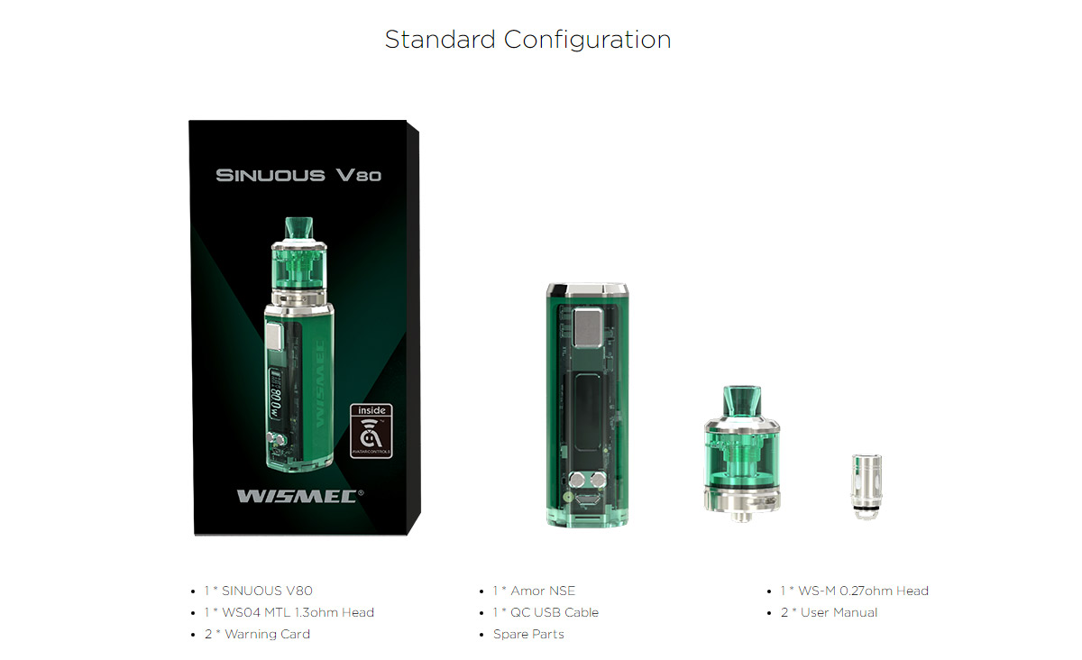 Wismec SINUOUS V80 kit