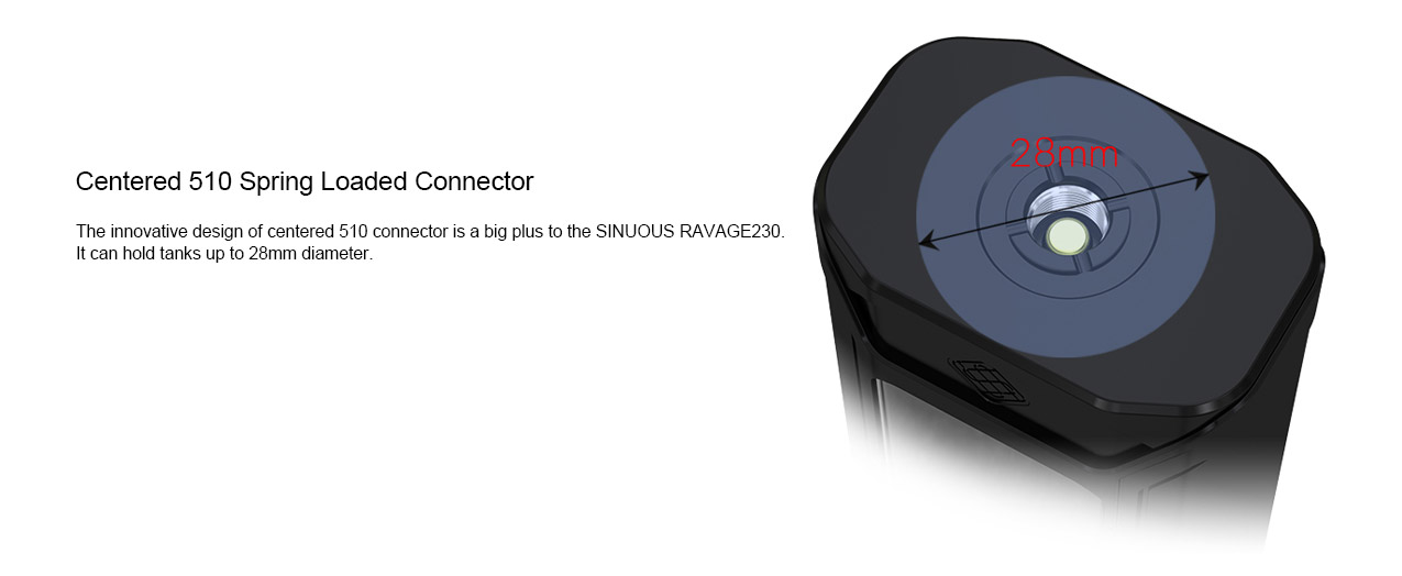 Wismec Sinuous Ravage230 200W Mod