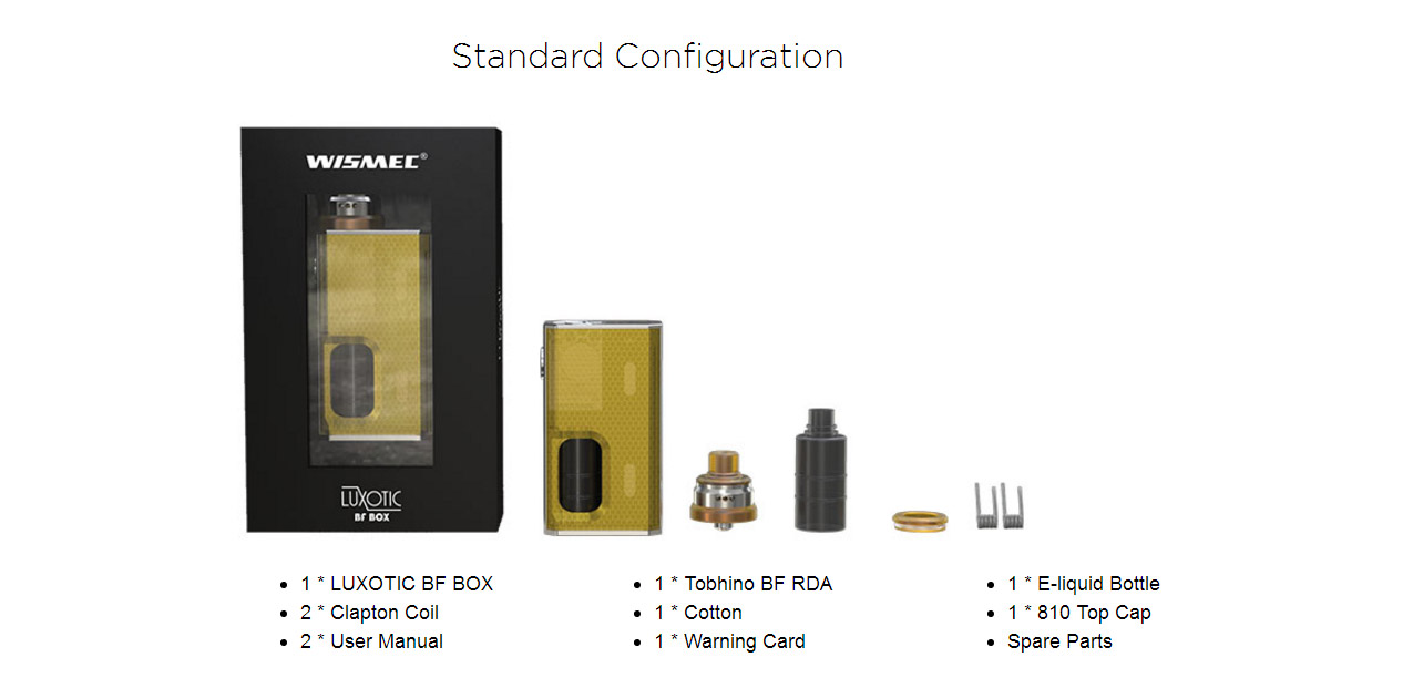 Wismec Luxotic BF Box Mod Kit