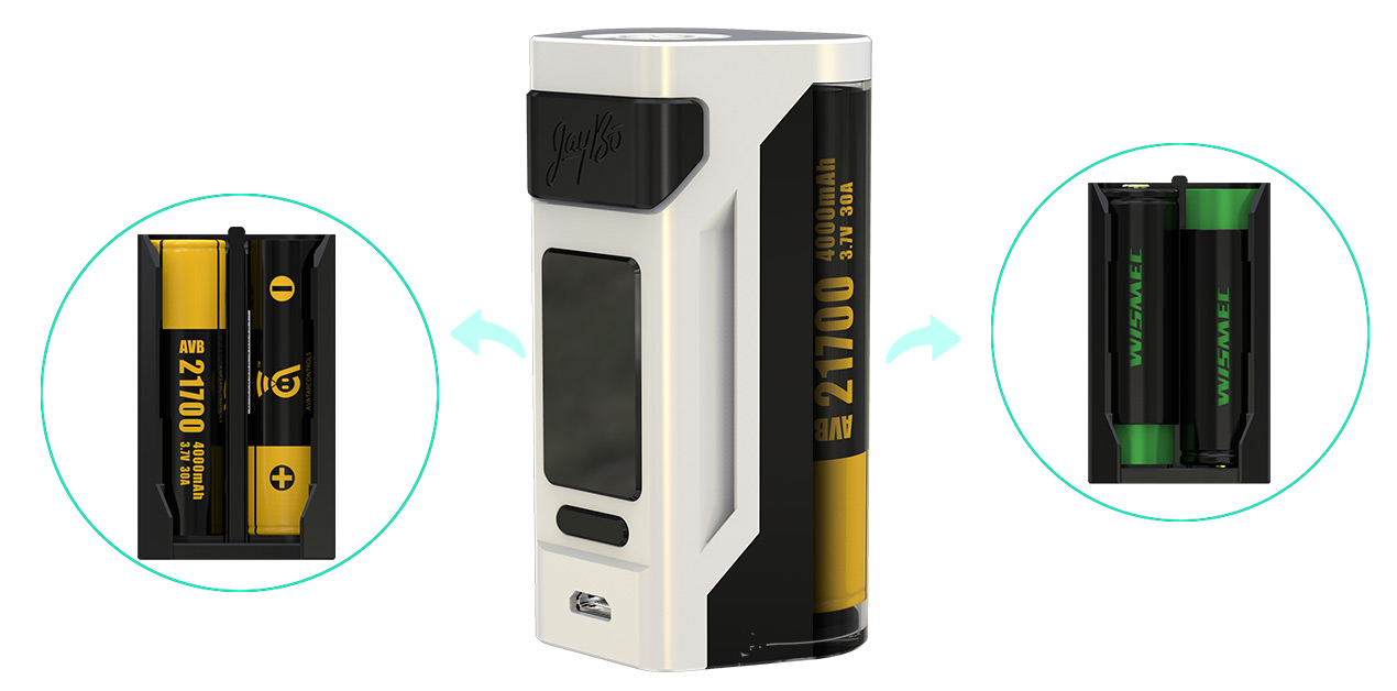 wismec rx2 21700 with gnome atomizer