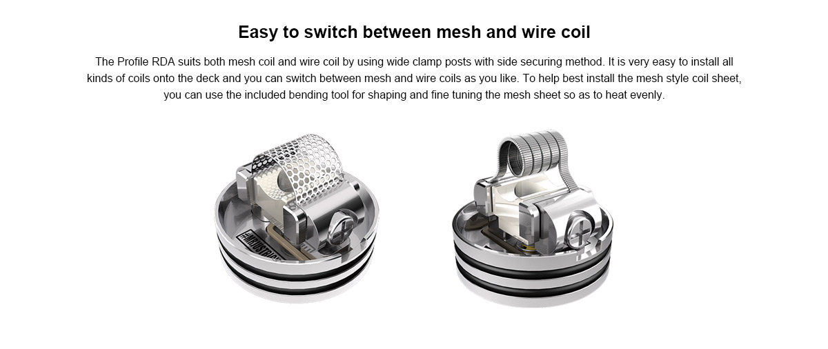 Mesh Style Coils 0.18ohm for Wotofo Profile RDA